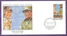 WW II BATTLE OF THE BULGE  FIRST DAY COVER by D K STONE Marshal I. 1994