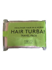 AQUIS Original Hair Turban Towel, Ultra Absorbent & Fast Drying Polyester Blend