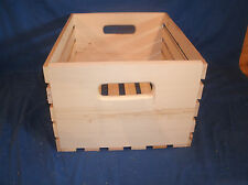 "Wooden crate, L.P. 18"" wooden vinyl album storage crate, wooden storage crate"