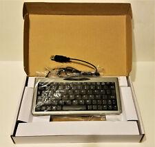 SOLIDTEK ASK-3100SU Ultra Mini USB Plug & Play Keyboard. SILVER COLOR. BRAND NEW