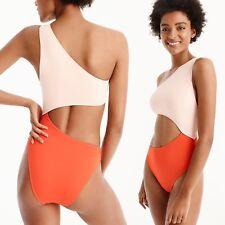 J2481 J. Crew Tilden Cutout One-Piece Swimsuit, Cerise Rose, Size XL NEW $60