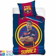 FC BARCELONA LUIS SUAREZ SINGLE DUVET SET COTTON COVER PILLOWCASE FOOTBALL NEW