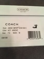 AUTHENTIC COACH MINDY Scribble Signature Leg Wrap ESPADRILLE SANDAL WEDGE SIZE 7