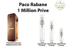 Paco Rabanne 1 Million Prive SAMPLES 2ml 5ml 10ml Glass Atomizer