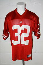 Euc Wisconsin Badgers #32 Red Football Jersey Sz L Large