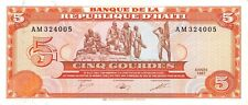 Haiti  5  Gourdes  1987  P 246a  Series  AM  Circulated Banknote J618T