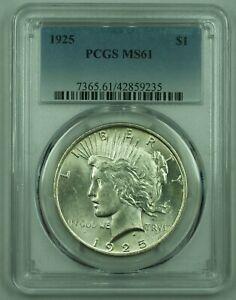 1925 Peace Silver Dollar S$1 PCGS MS-61 (38)
