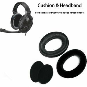 Ear Pads Headband Cushion Cup For Sennheiser PC350 360 HD515 HD518 HD555 Headset