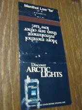 Vintage Discover Arctic Lights Menthol Low Tar Cigarette Empty Matchbook