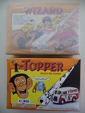 New Corgi Comic Classics 98758, 96887, The Wizard and The Topper - Morris J Vans