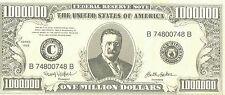 Faux One Million Dollar Bill