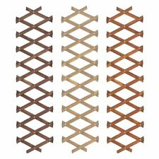 1 EXTENDABLE GARDEN LAWN EDGING WOODEN TRELLIS FENCE BORDER pine oak 6ft x 1ft