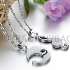 2PCS Love Music Note Gifts Couple Necklace Women's Accessorie Pendant Jewelry
