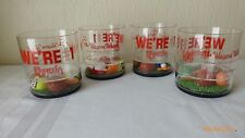 VTG Acrylic False Bottom Bar Glasses Advertising Collectible Wagon Wheel Rare