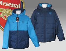 New NIKE Mens ARSENAL Football Reversible BENCH COAT Navy Turquoise M