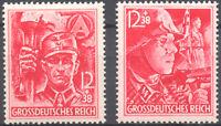 Deutsches Reich Nr. 909-910 ** DR postfrisch MNH SA/SS 1945 Hitler German Army