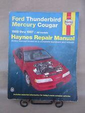 Vintage THUNDERBIRD & MERCURY COUGAR Haynes 36086 Automotive Manual 1989-1997