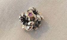 New Pandora Charm BINDING BEAUTY 925 14k Gold Pink Sapphire 790410 PSA