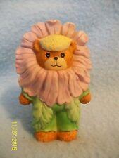 "Lucy & Me PINK FLOWER Bear 2 3/4"" Figurine 1989 ~ CUTE! LQQK here >>"