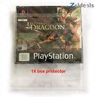 Box Protector Multi Disc PS1 CD Jewel Case CIB Game Custom Clear Plastic Case