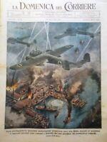 La Domenica del Corriere 16 Aprile 1944 WW2 Corelli Barricate Egitto Pavia Sinai