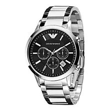 100% Authentic Emporio Armani Chronograph Stainless Steel Band Watch AR2434