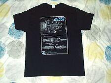 Camiseta el Halcón Milenario Star Wars Planos Negro Grande