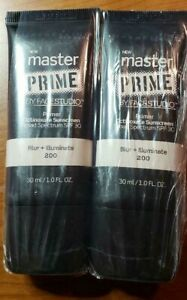 Maybelline Master Prime By Face Studio Primer ~ 200 Blur + Illuminate ~ Sealed 2