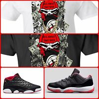 EXCLUSIVE TEE SHIRT TO MATCH NIKE AIR JORDAN 1 11 13 OR ANY BREDS COLORWAY!!