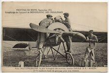 AVIATION avions Meeting REIMS 1913 Remplissage Appareil BRINDEJONC DES MOULINAIS