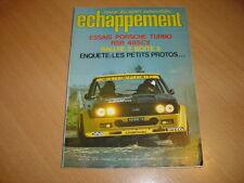 Echappement N°91 Porsche 911 Turbo 3l RSR.Simca 1000 Rallye 2.Fiat 131 Rallye