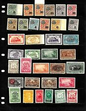 COSTA RICA: NICE  'VINTAGE' STAMP COLLECTION DISPLAYED ON 4 SHEETS. SEE SCANS