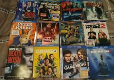 LOT OF 122 SLIP COVERS, 62 BLU-RAY 60 DVD DEATH WISH  A QUIET PLACE  STAR WARS