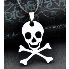 Cool Pirate Skull Stainless Steel Pendant Necklace