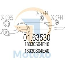 MTS 01.63530 Exhaust HONDA Civic 1.6i 16V 125bhp 01/94 - 12/96