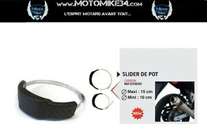 Protection Slider Exhaust Pipe Motorbike Round Or Oval Carbon/Carbon Ideal Track