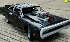 Technic Doms Dodged Charger Car Model Building Blocks Set Educational Kit Black