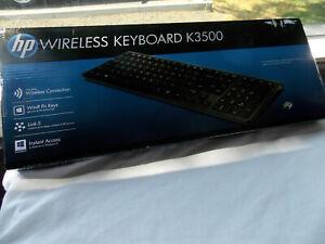 HP Wireless Keyboard K3500 H6R56AA#ABA USB RF Wireless Slim Keyboard - NEW