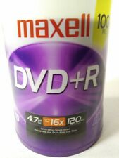 Maxell 100 Pack DVD+R 4.7 GB, 16X, 120 min. Dada Music Video - 4 hours max