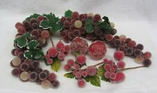 Vintage Sugared Fruit Assorted GRAPES APPLES FIGS Sugar