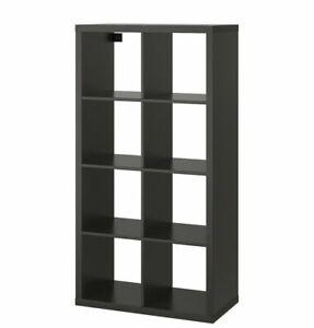 Ikea Kallax Bookcase Shelving Unit Display Black Brown Modern, 202.758.85 - NEW