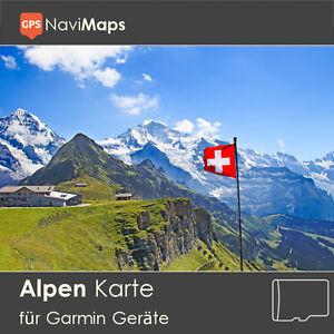 Topo Karte Alpen Garmin Edge Plus GPSMap Etrex Nüvi Astro Oregon Dakota Montana