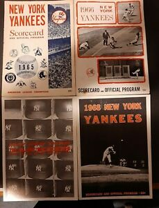 NEW YORK YANKEES 1965-1968 SCORECARD LOT (4)