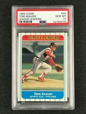 1986 Fleer League Leaders  Tom Seaver  PSA 10  Chicago White Sox