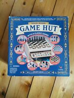 Cardinal Solid Wood Game Hut with 8 Classic games boxed New in Box