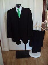 "Suit chest 40S waist 34S By Daniel Hechter in black 3 button jacket L29.5""(213)"