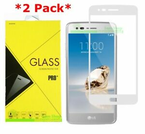 2X Full Coverage Premium Tempered Glass Screen Protector For LG Aristo MS210 LV3