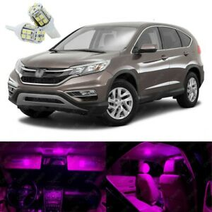12 x Pink LED Lights Interior Package Kit Deal Best For CR-V 2012 - 2016
