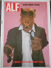 "Vintage ALF Fan Club Poster Jerry Stahl 23"" x 35"" Alien About Town"