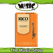 Rico 1 1/2 Strength Bass Clarinet Reeds - Box of 10  - Reed Pack of 10